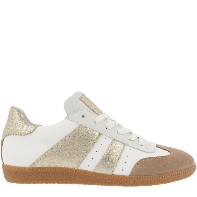 Sneaker Weiß mit Gold