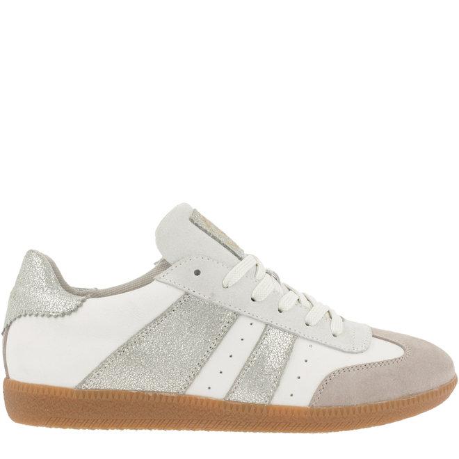 Sneaker Weiß mit Silber