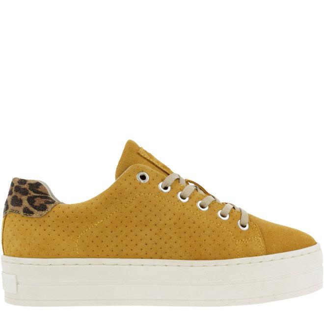 Sneaker Gelb Plateausohle