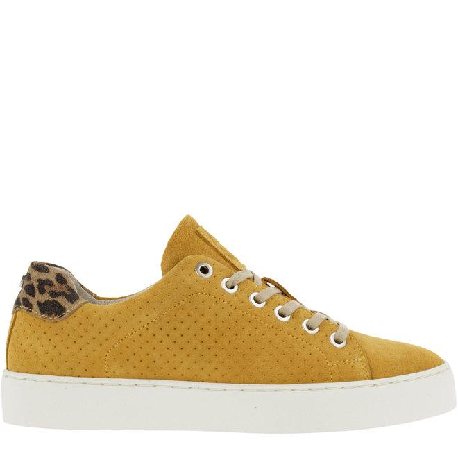 Sneaker Gelb mit Leoprint