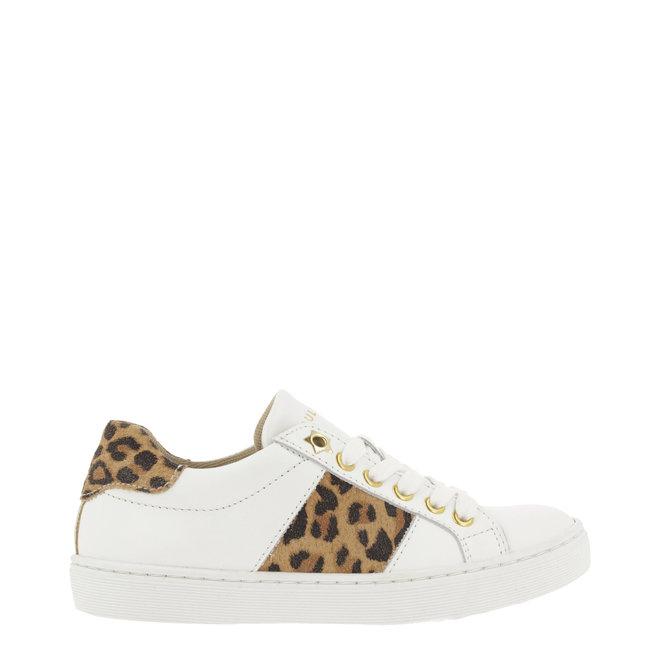 Sneaker Weiß mit Leoprint AHM029E5LAWNATKB