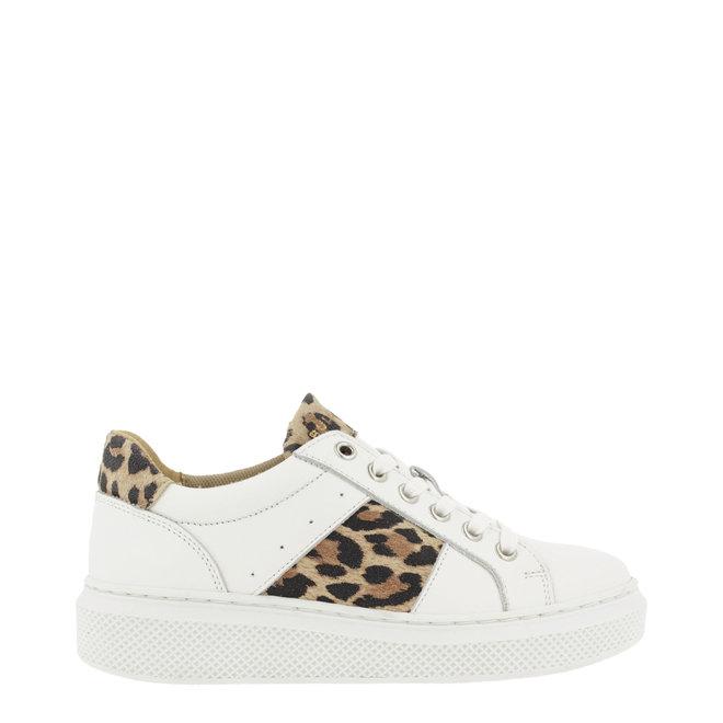 Sneaker Wit met Panterprint ALG001E5L_WNATKB