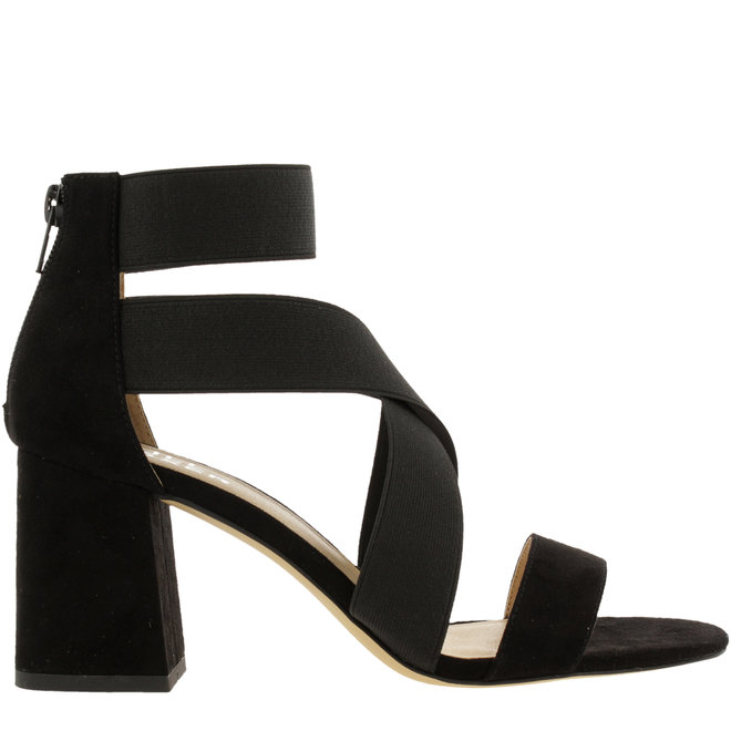 Sandale mit Blockabsatz Schwarz
