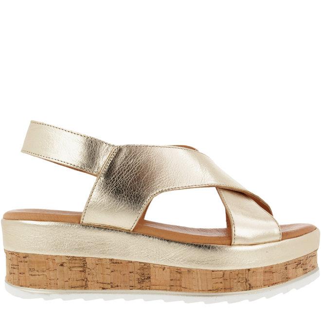 Sandale Goldfarben
