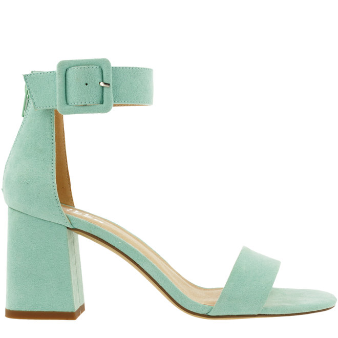 Sandale mint mit Blockabsatz