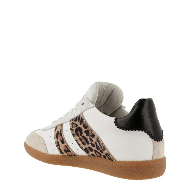 Sneaker Wit met Panterprint 930000E5L_MINKTD