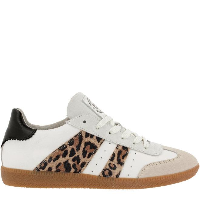Sneaker Weiß mit Leoprint