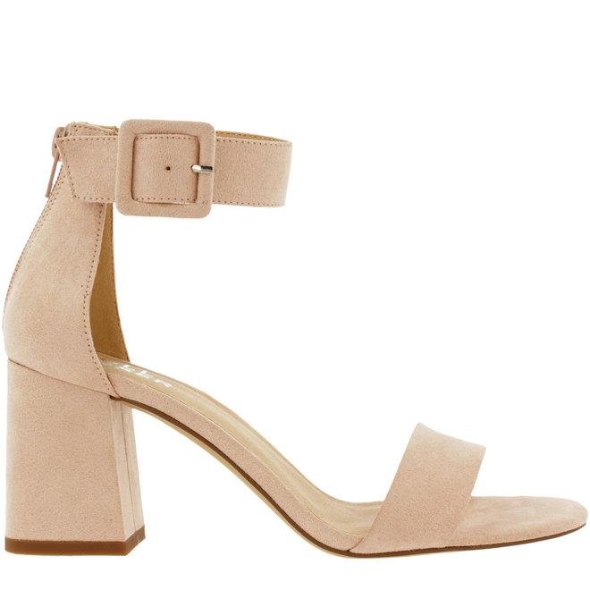 Sandale mit Blockabsatz Rosa
