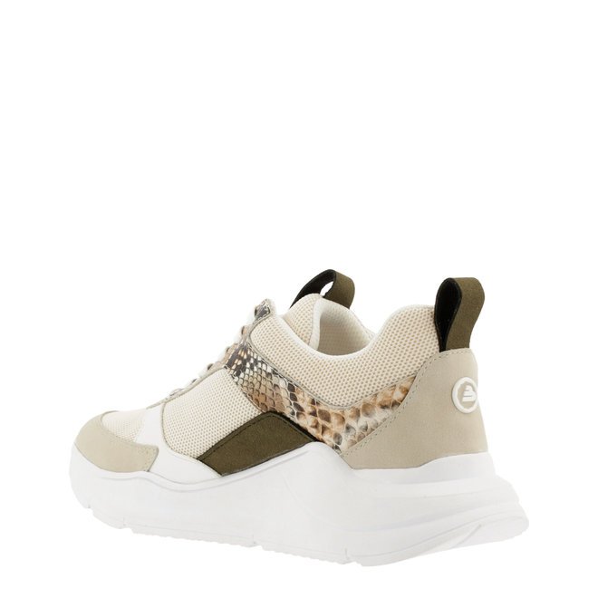 Sneaker Beige met Slangenprint 099000F5T_BGWHTD