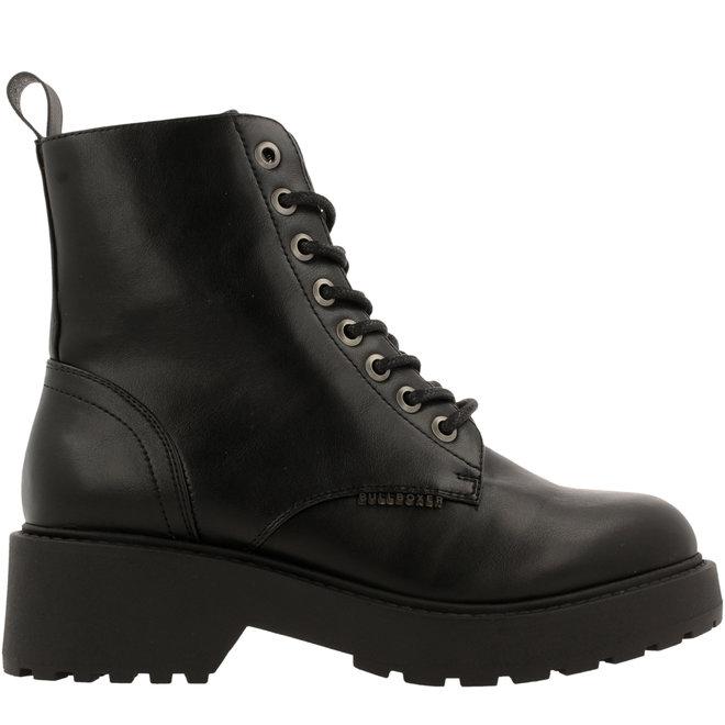 Biker Boots Glitter Black