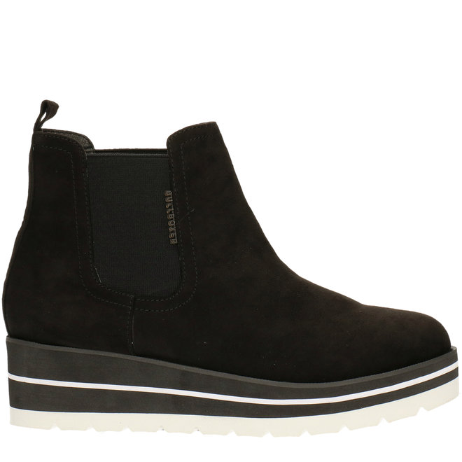 Ankle Boots Black with Wedgeheel 074524F6T_BLCKTD