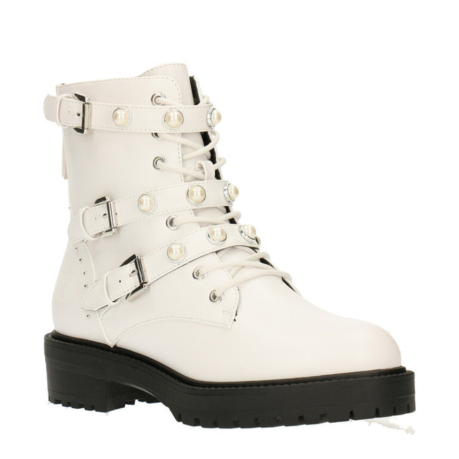 Biker Boots Wit met Parels 031500F6S_WHITTD
