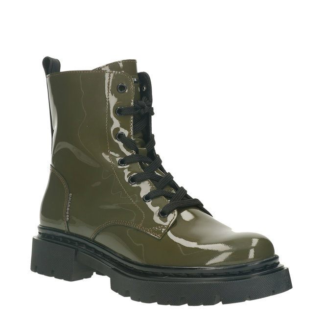 Biker Boots Green 610504E6L_MLTRTD