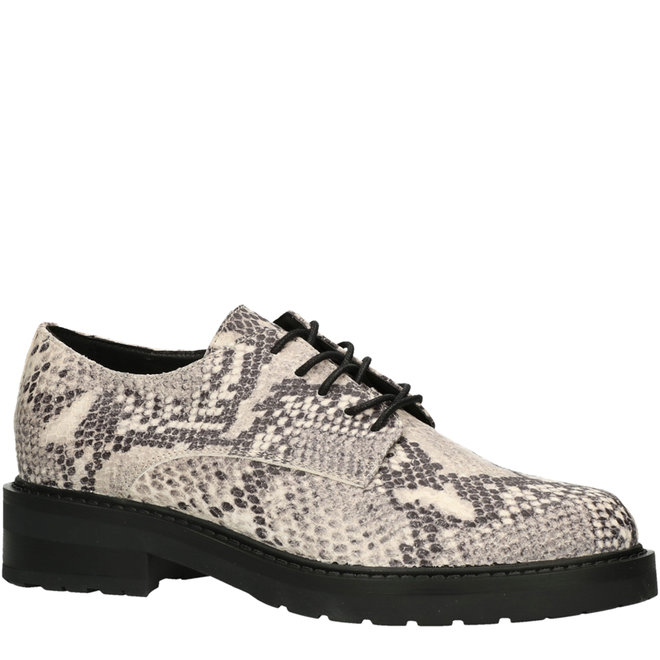 Lace-up Shoes Snake Print