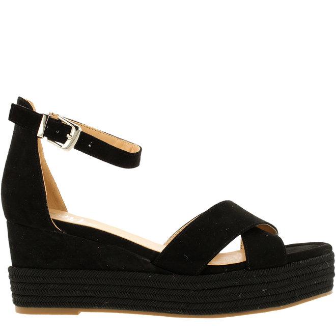 Sandalen mit Keilabsatz Schwarz 268003F2T_BLCKTD