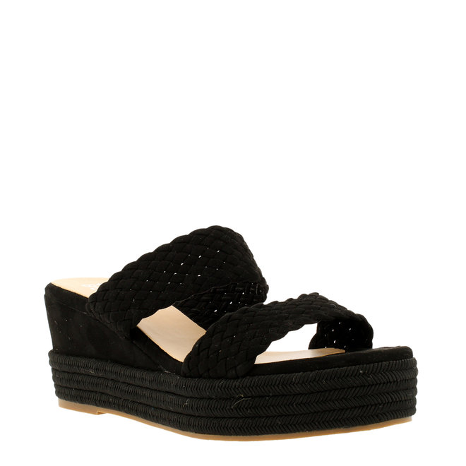 Sandalen mit Keilabsatz Schwarz 268002F2T_BKBKTD