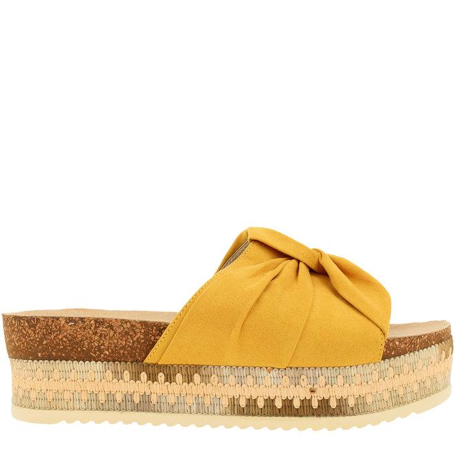 Slippers Senffarbe