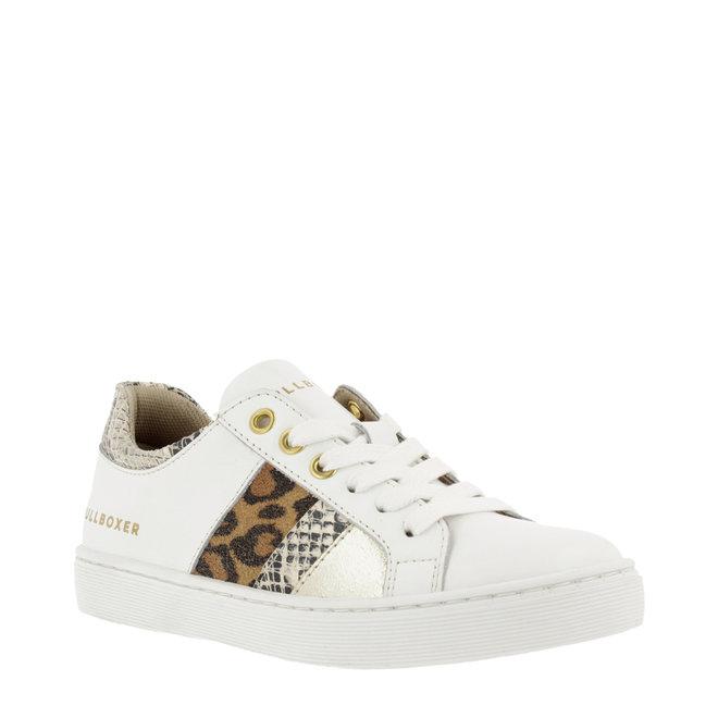 Sneaker Wit met Panter- en Slangenprint AHM031E5L_WONTKB