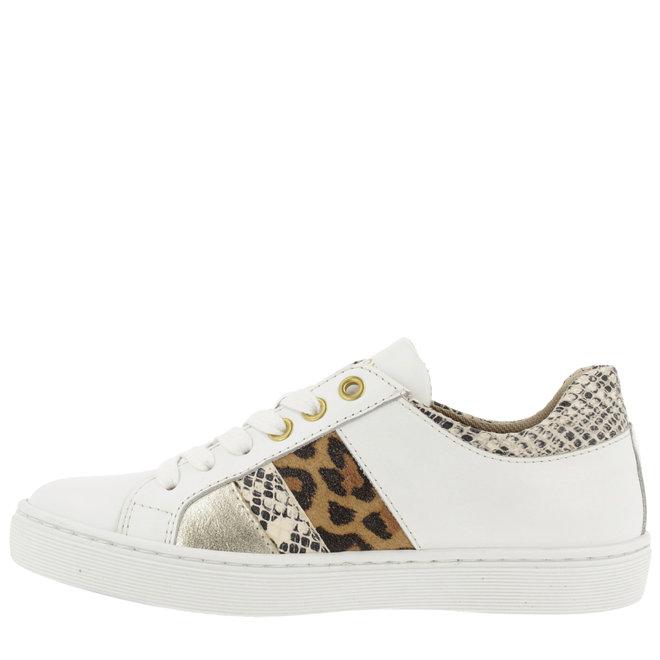 Sneaker Weiß mit Leo- und Schlangenprint AHM031E5L_WONTKB