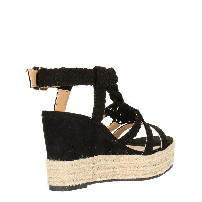 Sandalen mit Keilabsatz Schwarz 175018F2T_BLCKTD