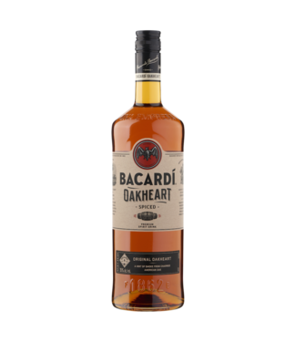 Bacardi Oakheart  Rum 100cl + 2 Bacardi glasses