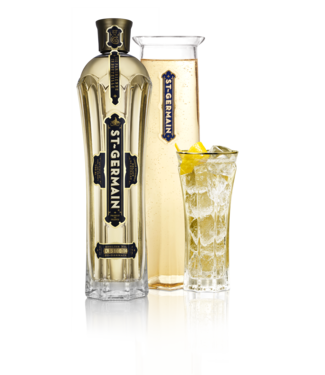 St Germain 70cl bottle with caraffe & 2 glasses