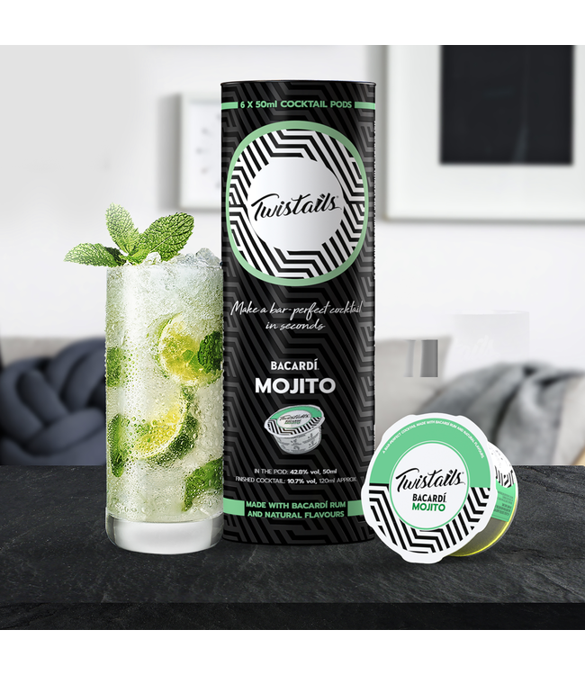 Refill - Twistails 6 Bacardi Mojito Cocktail Capsules, Refill Pack