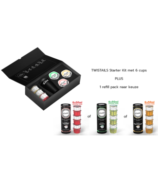 Twistails Starter Kit + Refill Pack of your choice