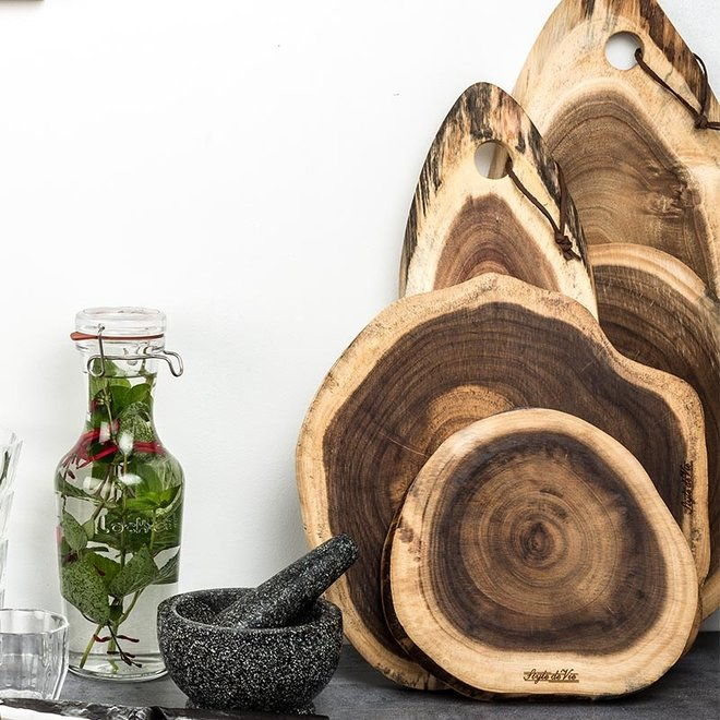 Serveerplank Rond Acacia Hout