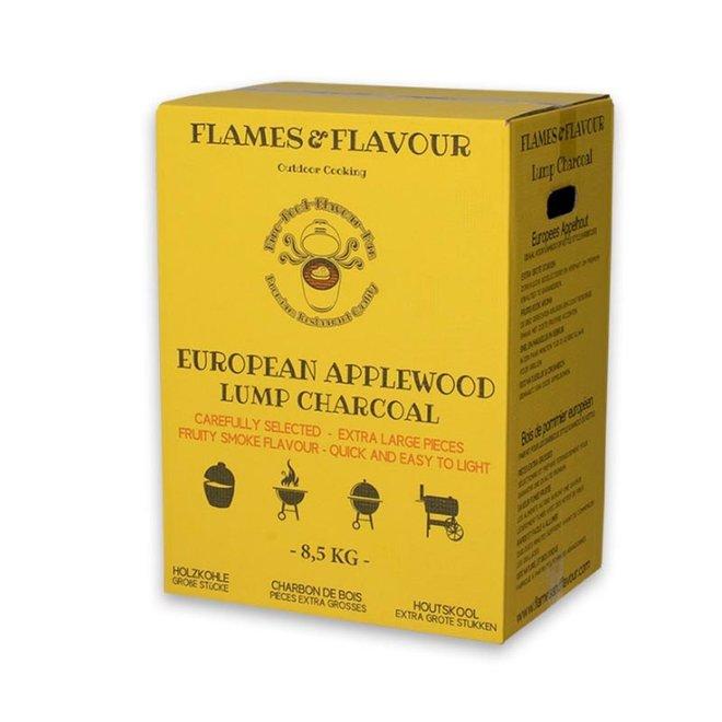 Europees Appelhout houtskool 8.5 KG van Flames & Flavour