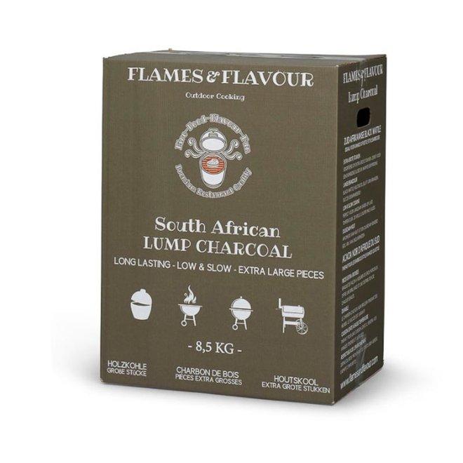 Zuid-Afrikaanse Black Wattle Houtskool 8.5 KG van Flames & Flavour