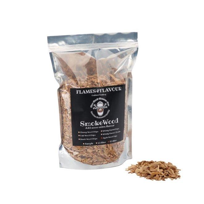 Rookhout Chips Appel 2.5 L van Flames & Flavour