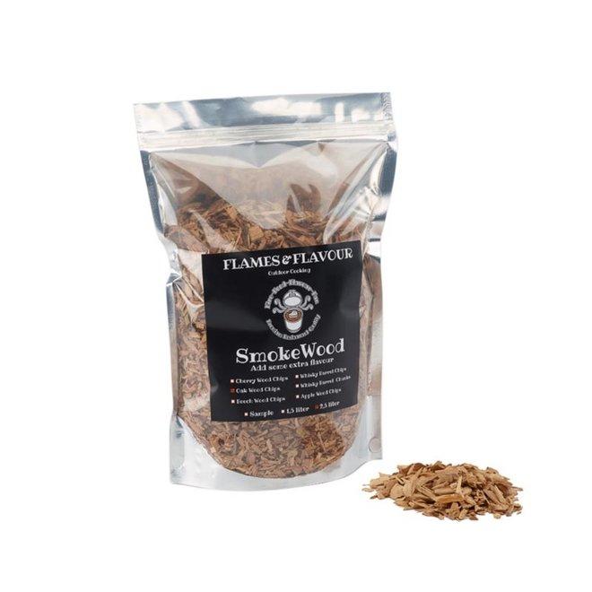 Rookhout Chips Eiken 2.5 L van Flames & Flavour