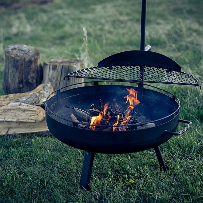 Cowboy Fire Pit Grill Rooster Small van Barebones