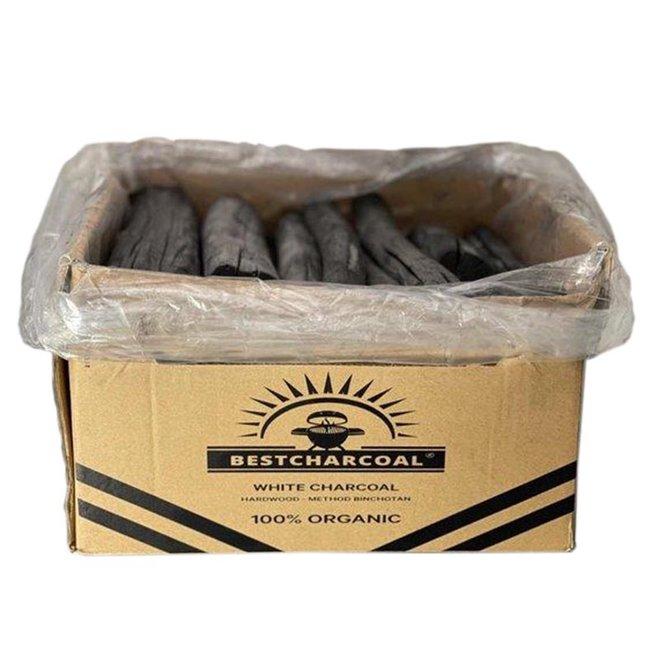 Binchotan White Charcoal Hardhout 7.5KG van Bestcharcoal