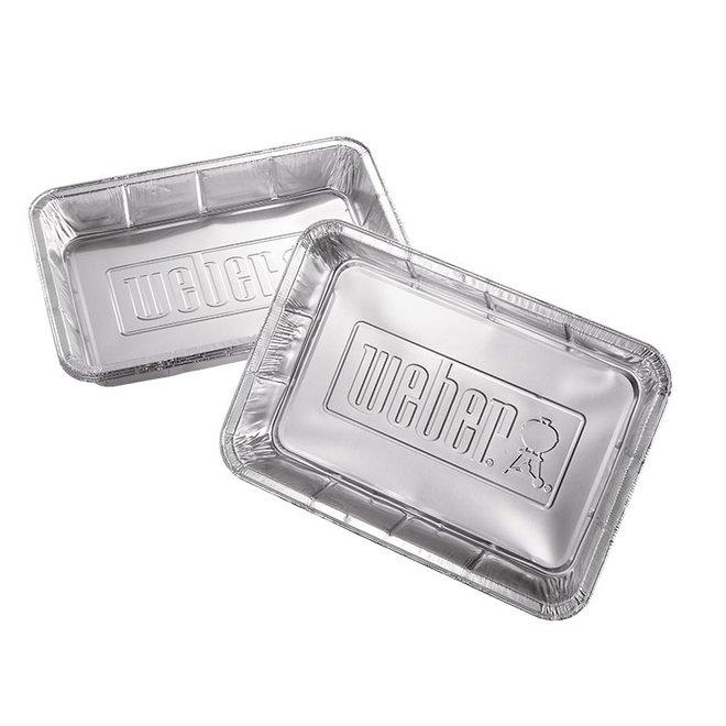 Aluminium lekbakjes Groot - 10 stuks van Weber