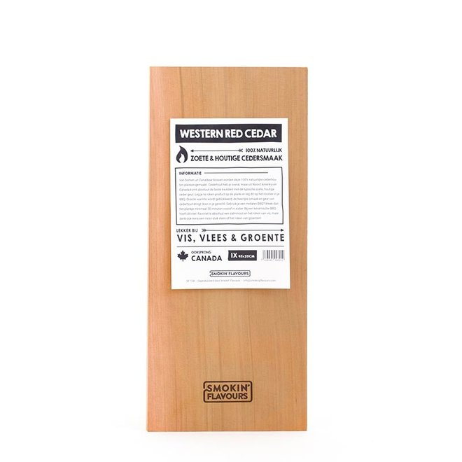 Cederhouten plank 20x45 cm- per stuk van Smokin' Flavours