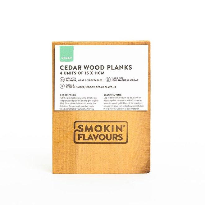 Ceder rookplanken 11x15cm van Smokin' Flavours