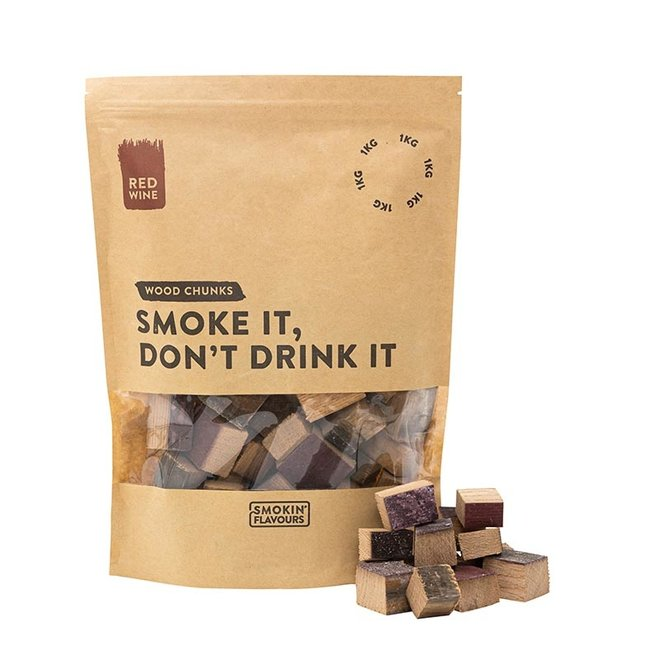 Rookchunks Rode Wijnvaten 1 KG van Smokin' Flavours