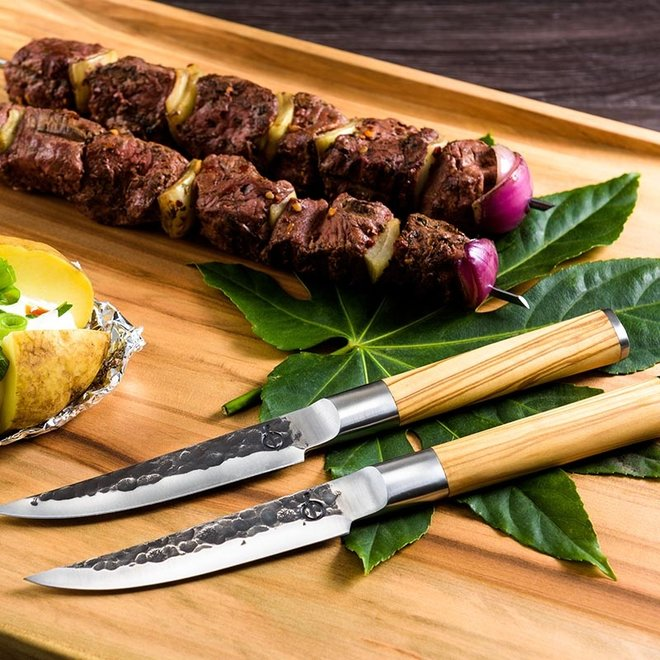Olive Steakmessen 4 stuks van Forged