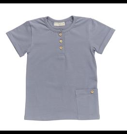 Blossom Kids Blossom Kids - Shirt Short Sleeve - Blue Grey