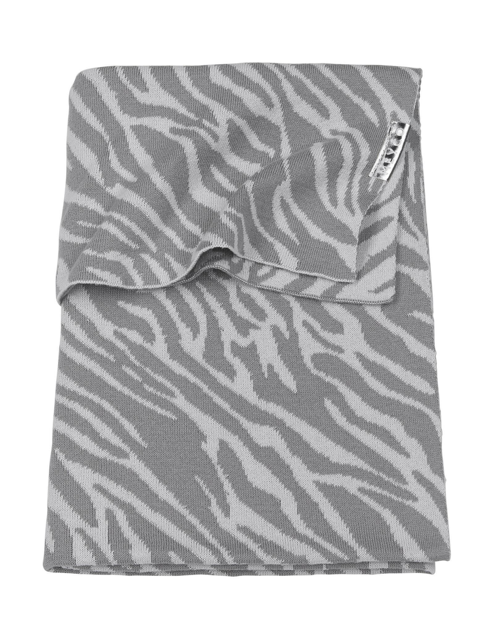 Meyco Meyco -  Wiegdeken Zebra Grijs