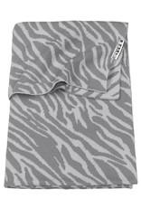 Meyco Meyco - Ledikantdeken Zebra Grijs