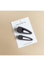 Grech & Co Grech & Co - Matte clip Set - Charcoal