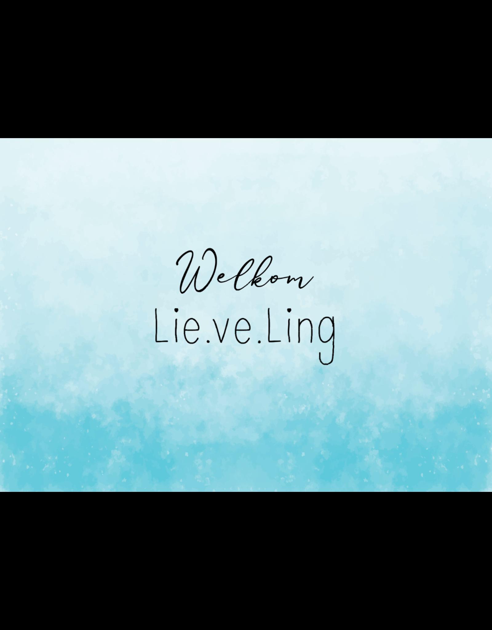 Lie.ve.Ling Kids Kaart Welkom Lieveling blauw