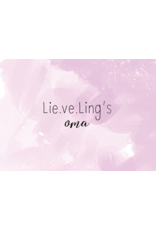 Lie.ve.Ling Kids Kaart Lieveling's Oma