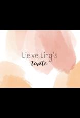 Lie.ve.Ling Kids Kaart Lieveling's Tante
