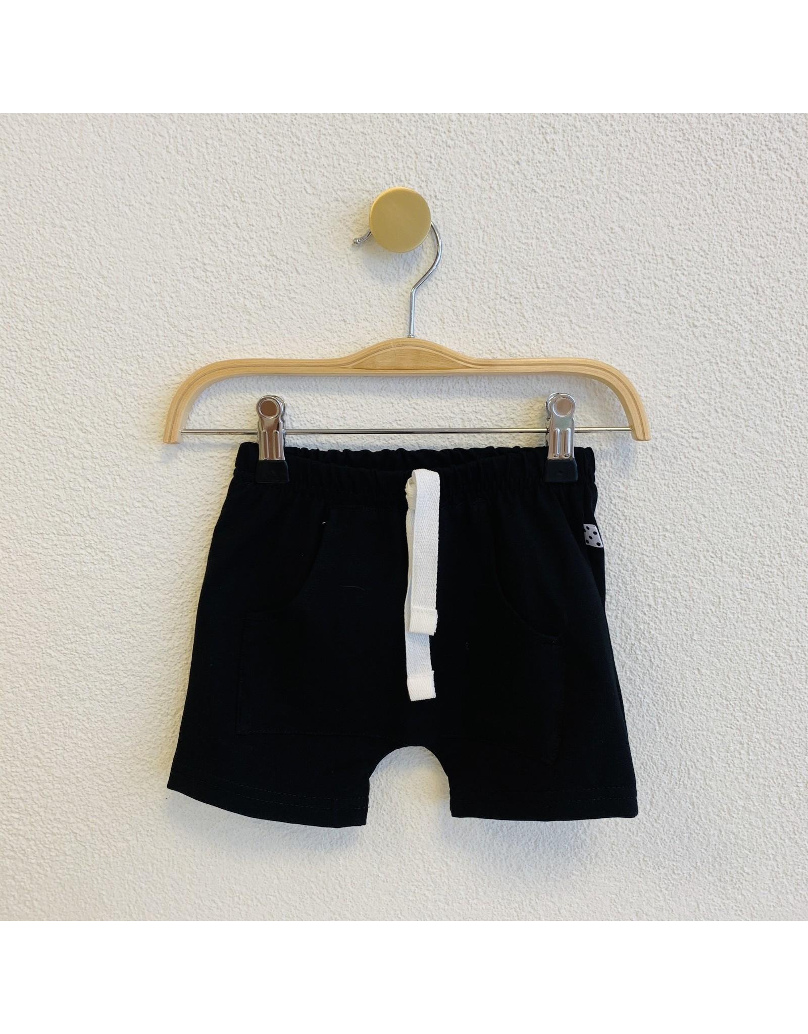 No Colours No Colours - Harem shorts Zwart Front Pocket