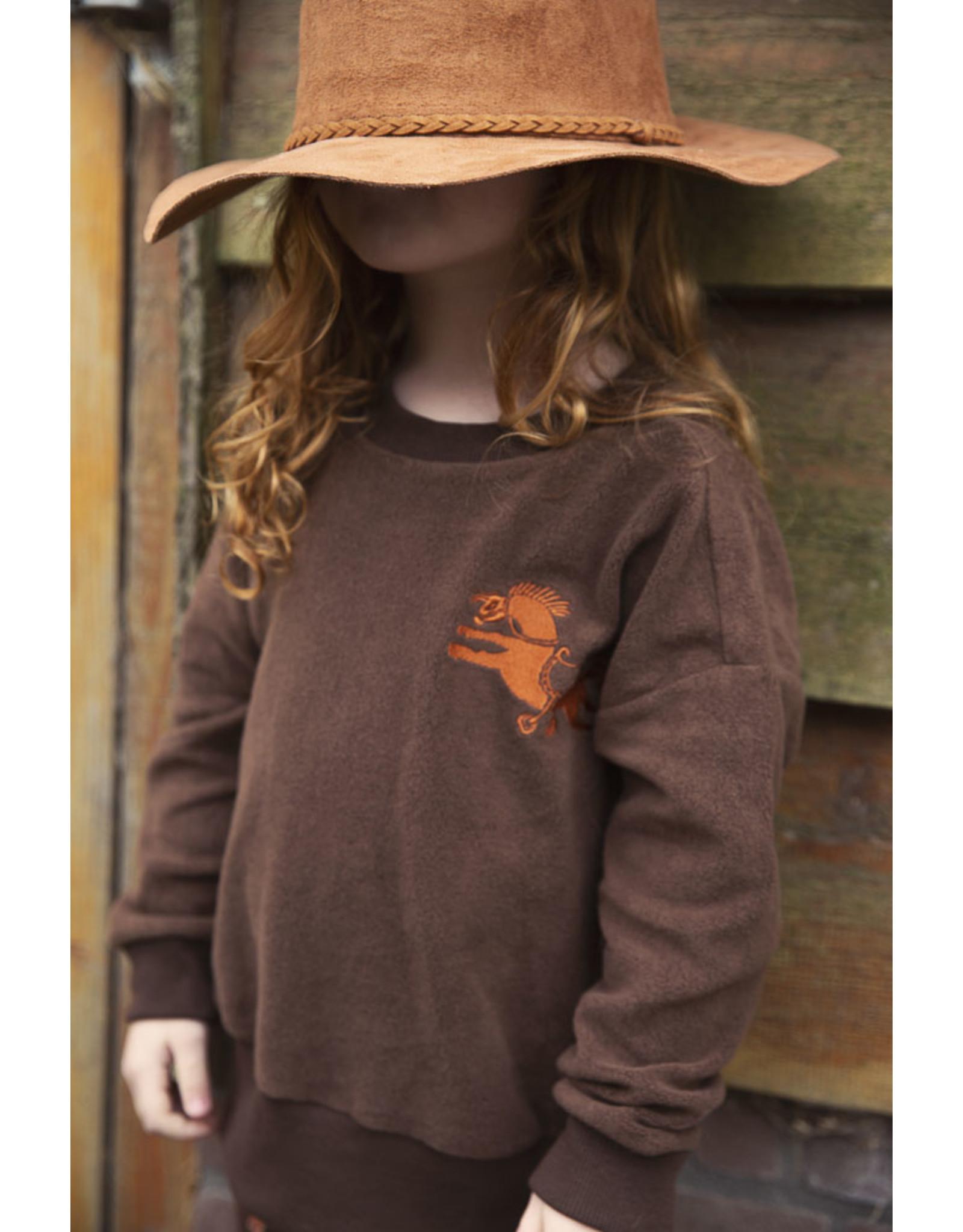 Ammehoela Sweater Dark Brown - Rocky