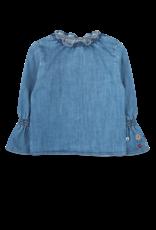 Ammehoela Blouse Denim Blue - Olivednm